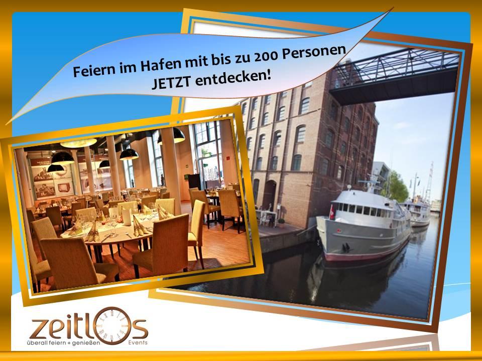Schwerelos Zeitlos – Feiern mit bis zu 200 Personen und eigenem Schiffsanleger!